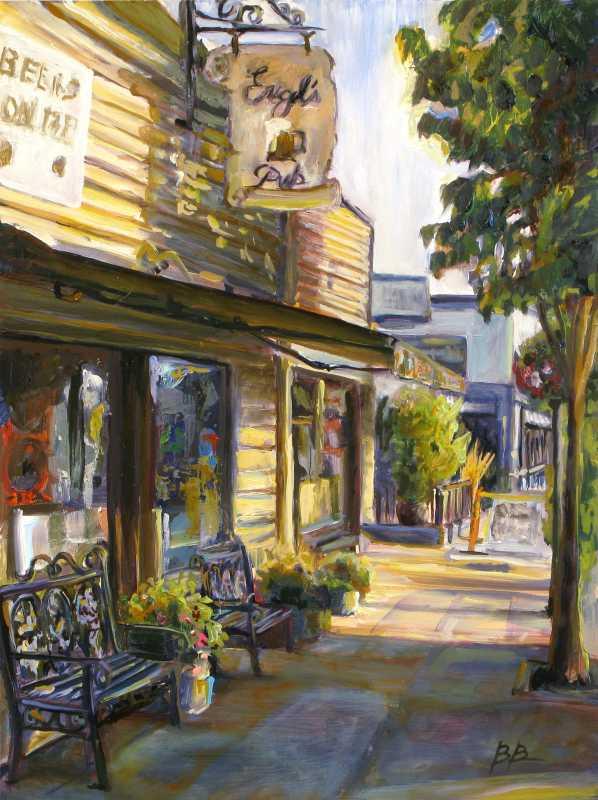 Evening Pub by  Brooke Borcherding - Masterpiece Online