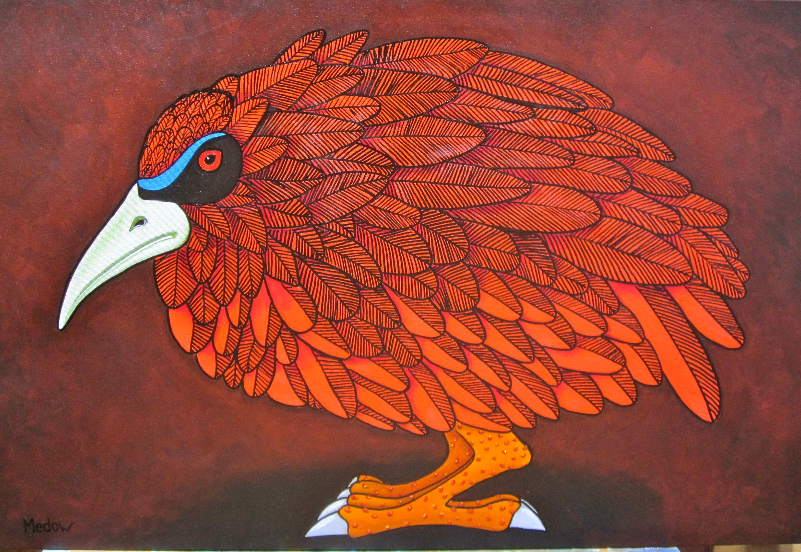 Red Bird by  Mike Medow - Masterpiece Online