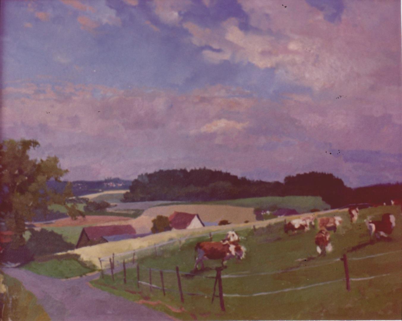 Swiss Farm by  Daud Akhriev - Masterpiece Online
