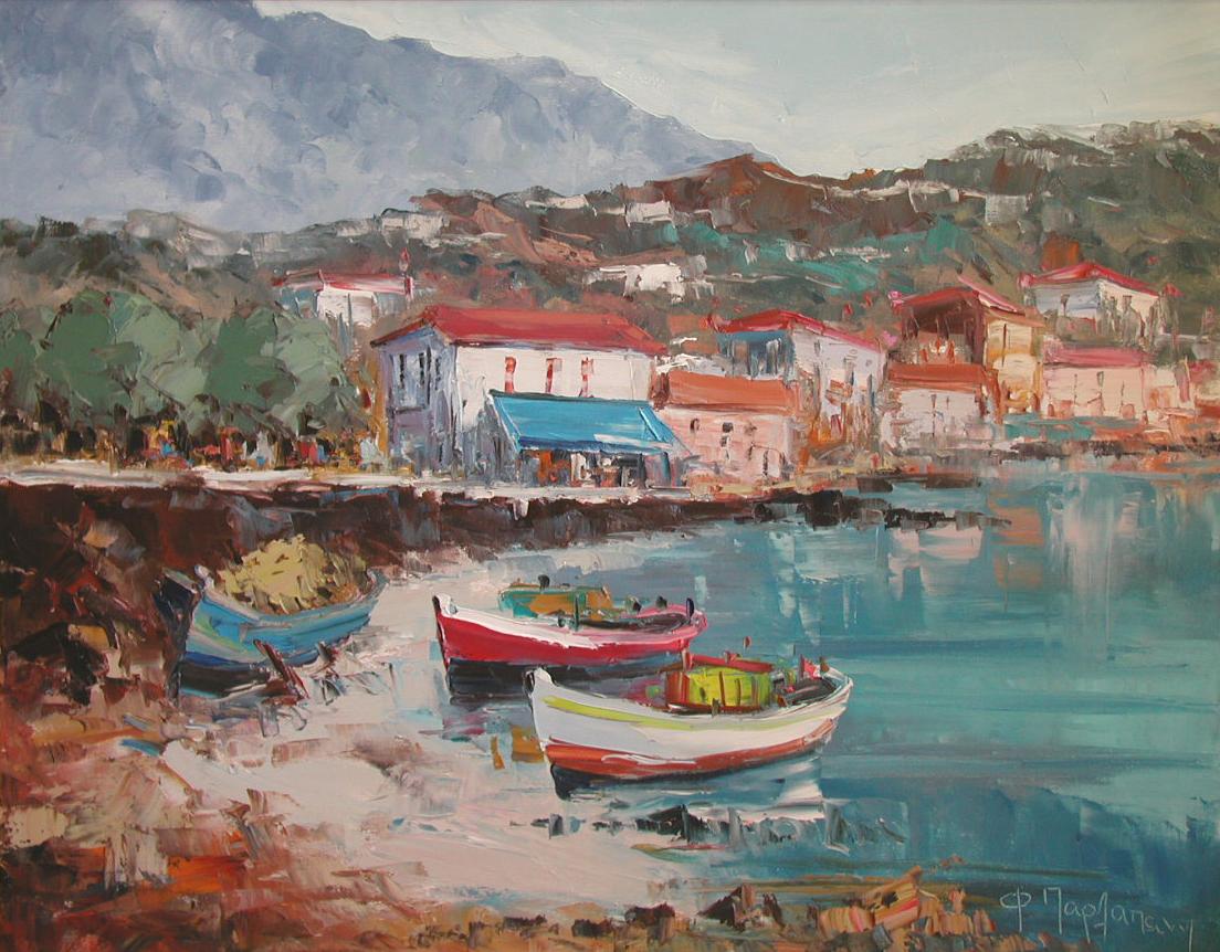Fishing Boats at Nava... by  Fani  Parlapani  - Masterpiece Online