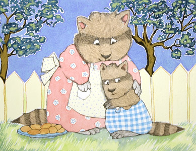 Hugging By The Fence by  Rosemary Wells - Masterpiece Online