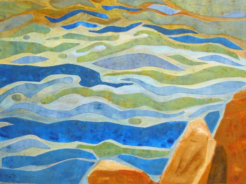 The Waves Far Below t... by  Ingrid Winkler - Masterpiece Online