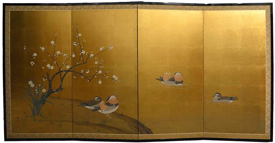 Plum Tree & Mandarin ... by  Oh-en Tanaka - Masterpiece Online