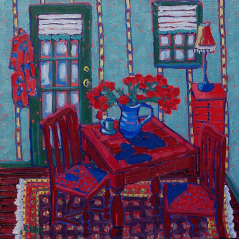 Tea Time in the Studio by  Char  Michelson  - Masterpiece Online