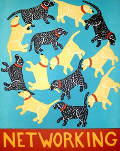 Networking by  Stephen Huneck Prints - Masterpiece Online