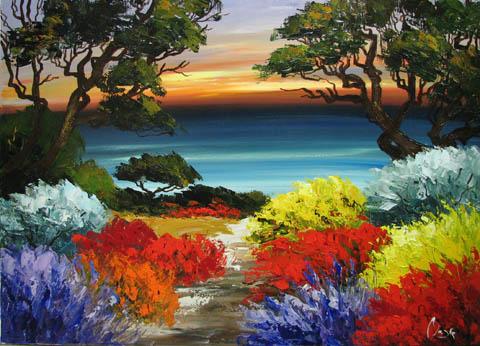 Sundown in Carmel by  Louis  Magre - Masterpiece Online