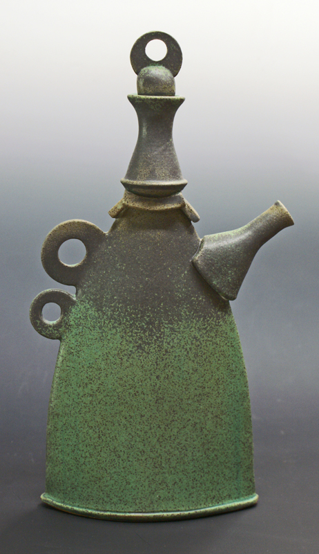Tall Bronze Teapot by  Sandy Terry - Masterpiece Online