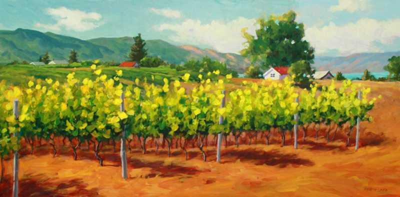 Kelowna Vineyard by  Robyn Lake - Masterpiece Online