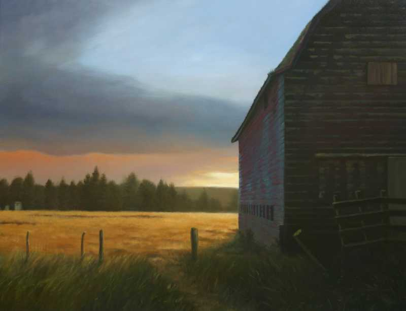 Old Barn Sunset  by  Andy Eccleshall