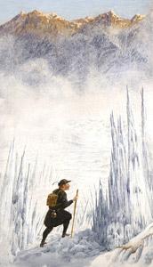 Hans Crossing The Gla... by  Juan Wijingaard - Masterpiece Online