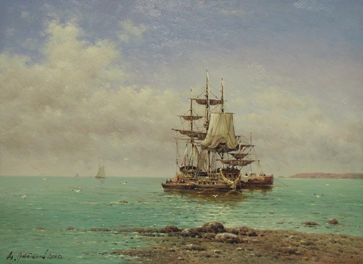 Taking on Supplies by  Vasily Gribennikov - Masterpiece Online
