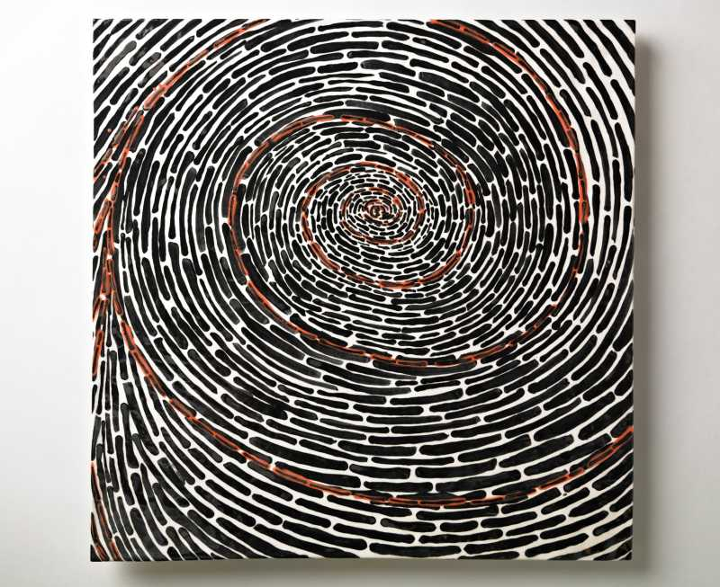 Black, Red Tunnels by  David Kuraoka - Masterpiece Online