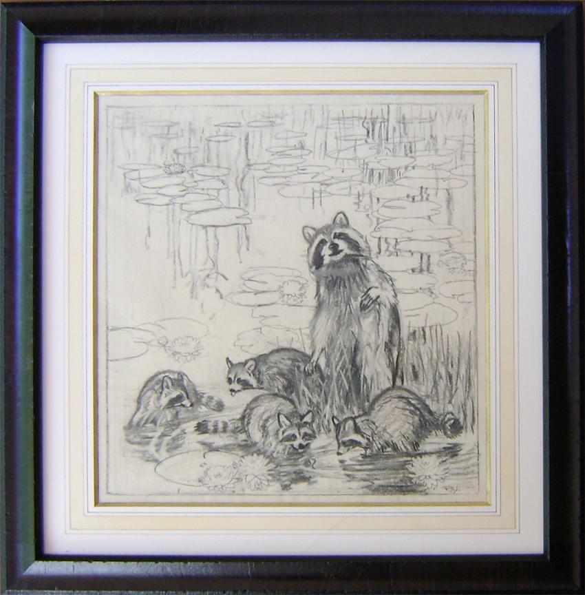 Raccoons by  Robert Lougheed - Masterpiece Online
