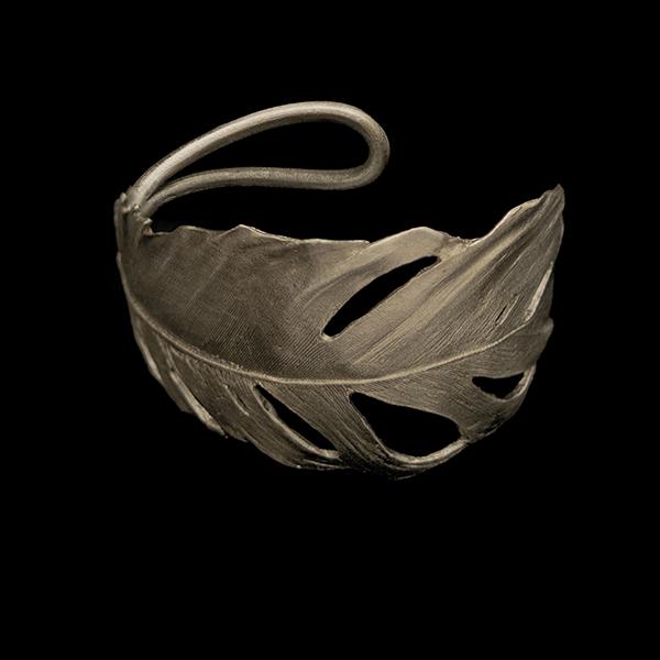 Feather Silver Cuff