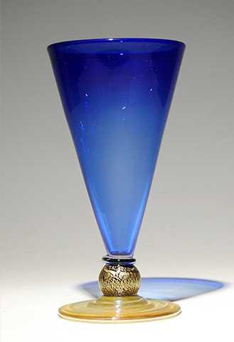 Cone Goblet/Cobalt by  Alex Brand - Masterpiece Online