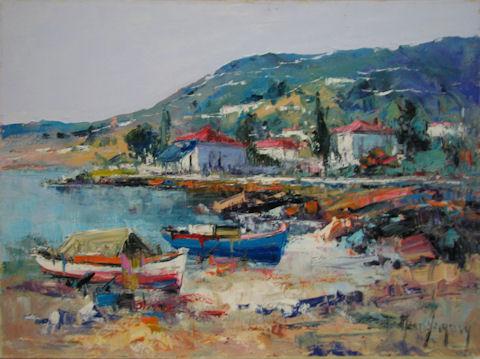 Attica Harbor by  Fani  Parlapani  - Masterpiece Online