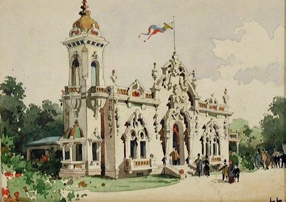 Pavillion de L'Exposi... by  Luigi  Loir - Masterpiece Online