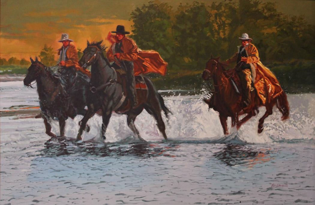 Crossing in a Hurry by  Glen Edwards - Masterpiece Online