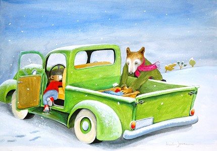 Getting Into The Car represented by  by  Anita Jeram