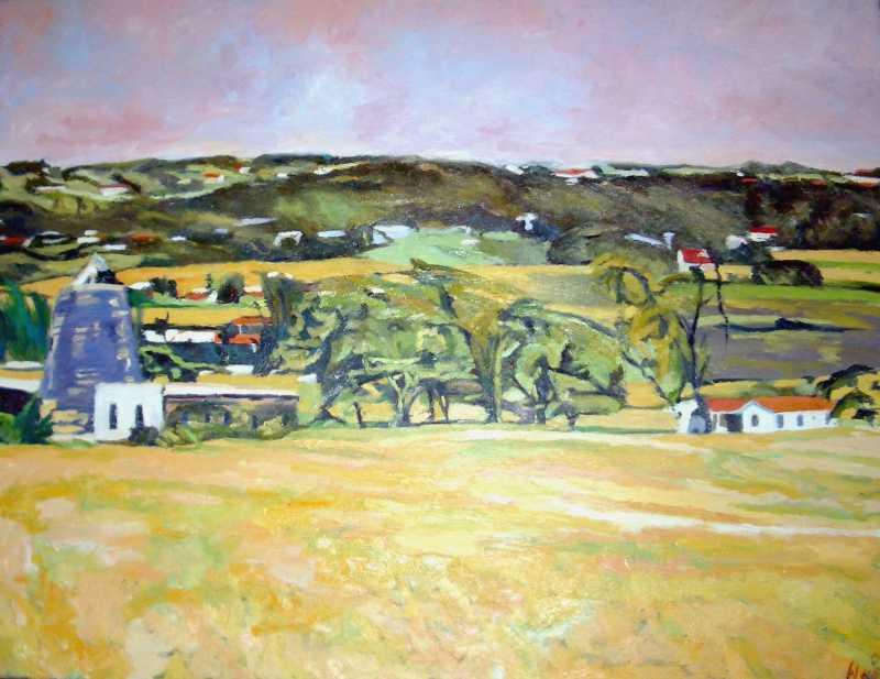Landscape with Bushes by Mr. Winston Breedy - Masterpiece Online