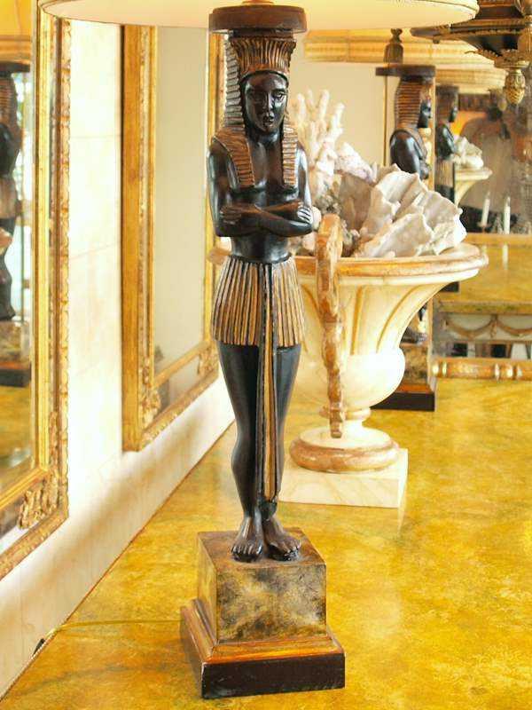 Pair of Sphinx Lamps by  Italian  - Masterpiece Online