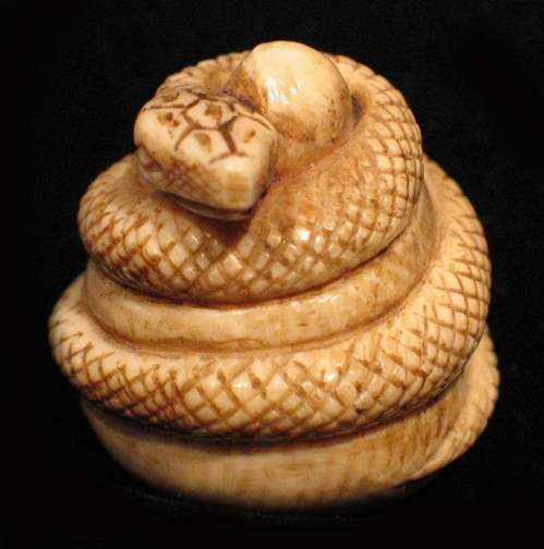 Snake by   Netsuke - Masterpiece Online