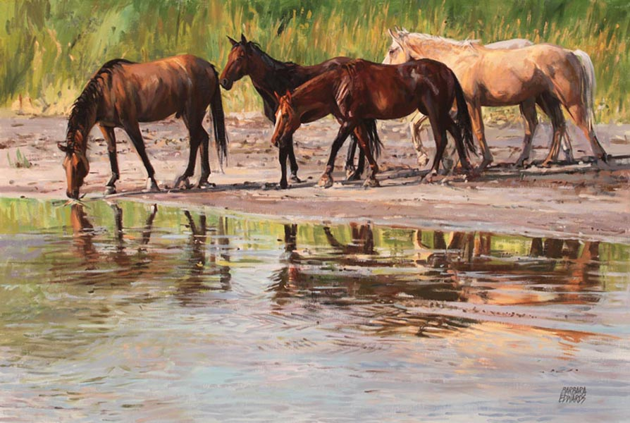 SOLD- Living Waters by  Barbara Summers Edwards - Masterpiece Online