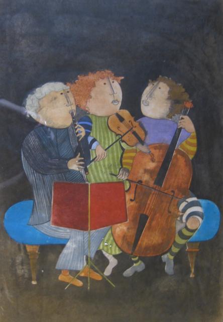 Musicians (le trio de... by Ms. Graciela Boulanger - Masterpiece Online