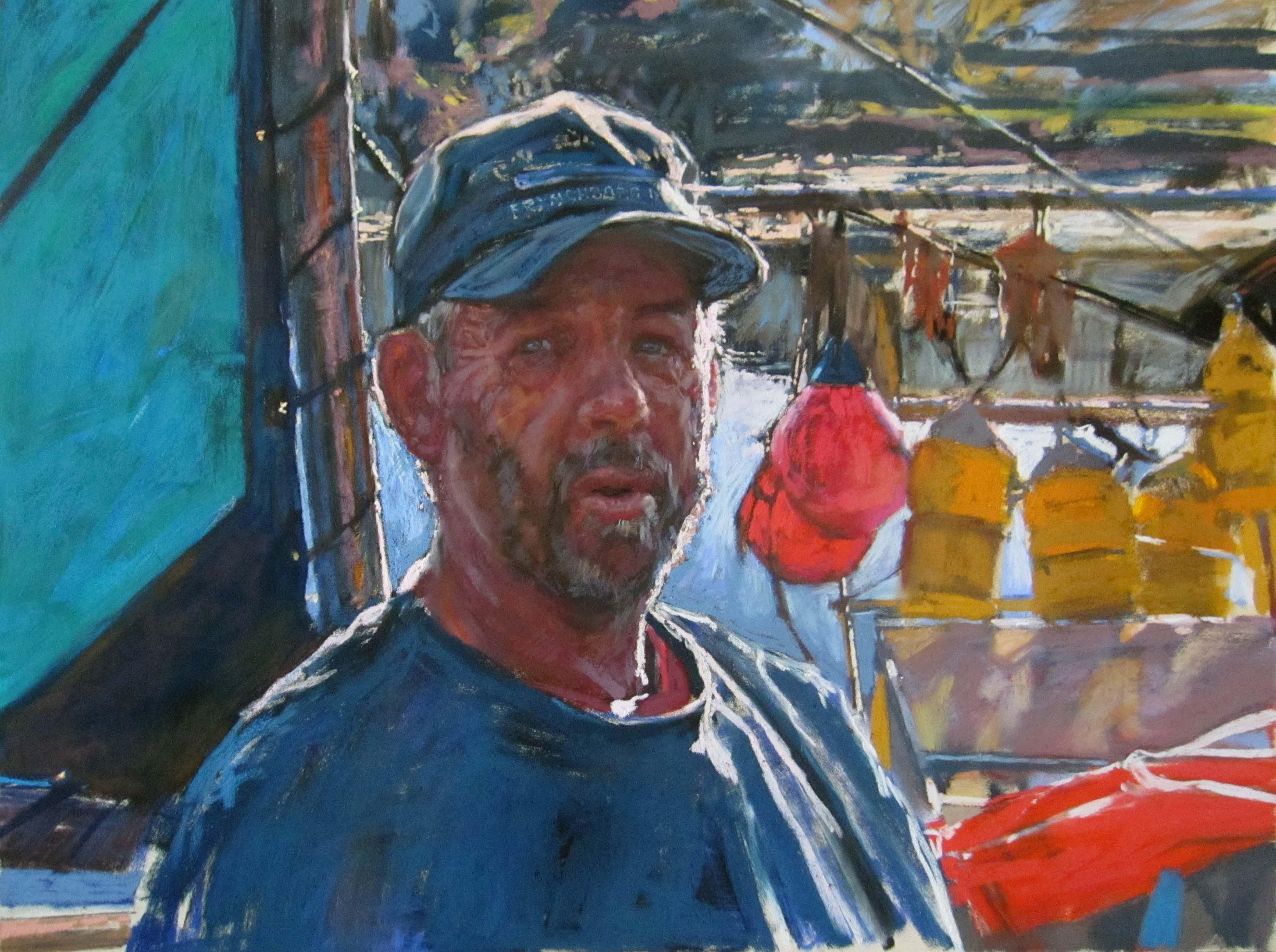 Fisherman by  Daud Akhriev - Masterpiece Online