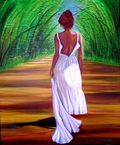 Entre Bambues (SOLD)  by  Deborah Levy