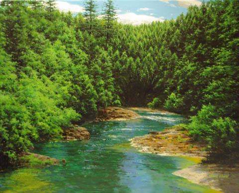 Mountain Stream Clear... by  Michael Wheeler - Masterpiece Online