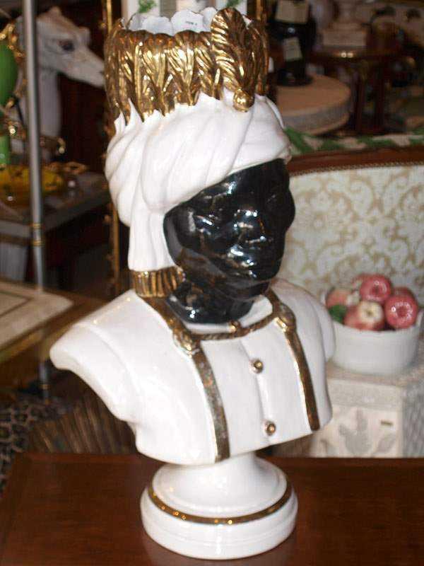Blackamoor Head Vase by  Italian  - Masterpiece Online