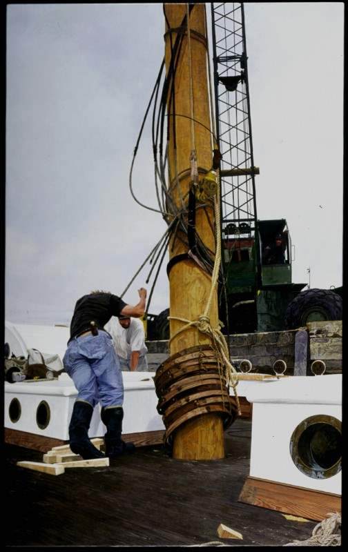 Stepping the Mast  - ... by  Andrew Moore - Masterpiece Online