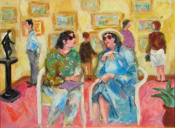 Artist's Reception by  Tom Maley - Masterpiece Online