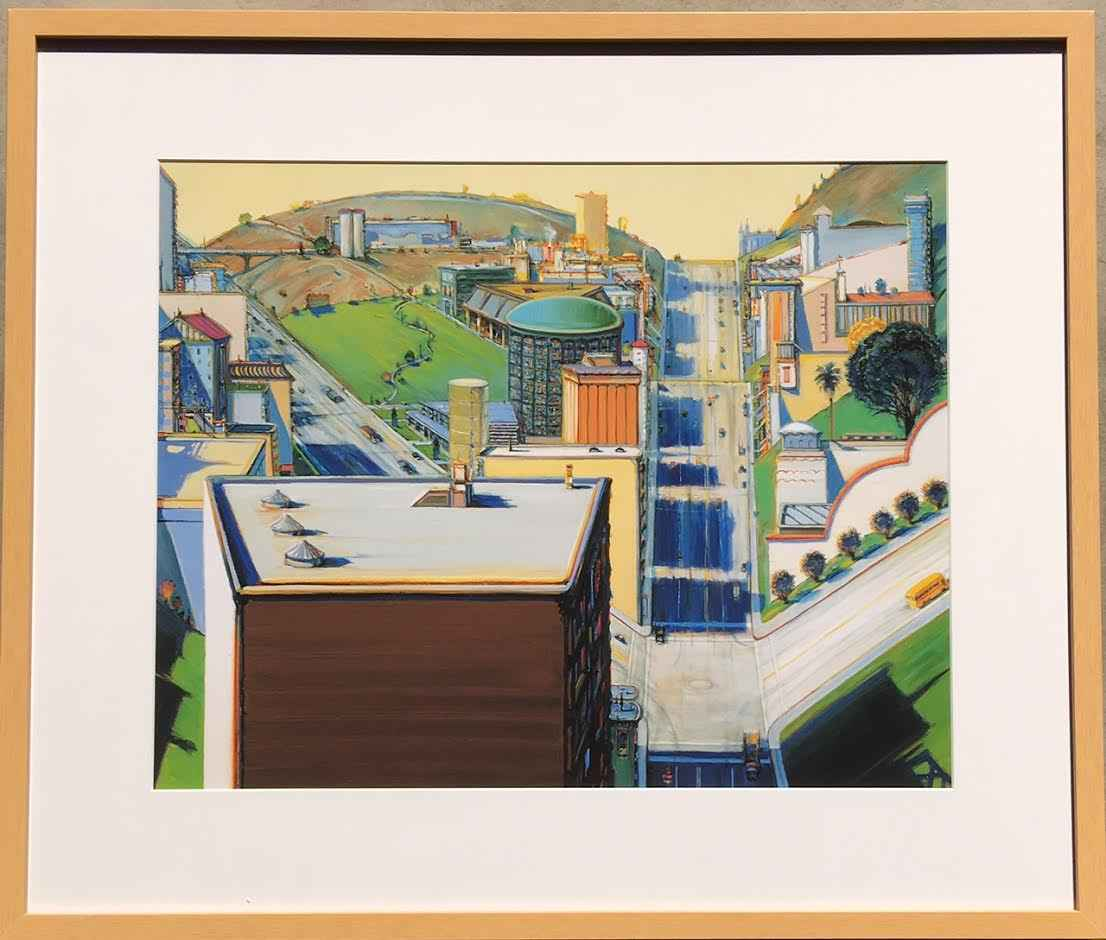 Valley Streets represented by  by  Wayne Thiebaud