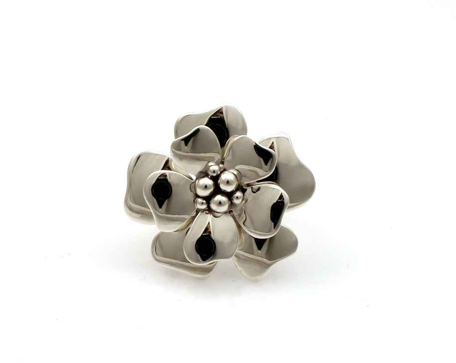 Silver Flower Ring by  Artie Yellowhorse - Masterpiece Online