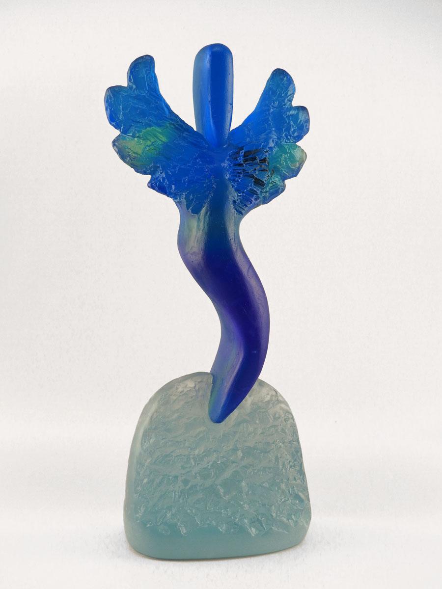 Dark Blue Winged Figu... by  Mark Abildgaard - Masterpiece Online