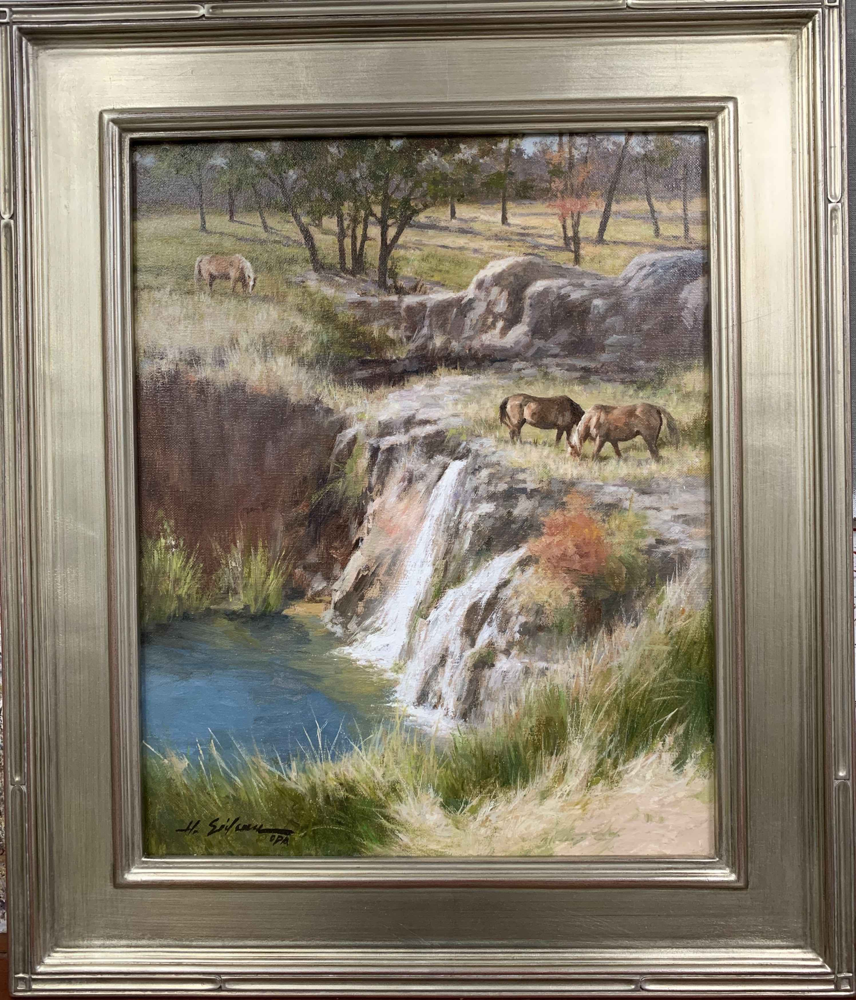 Grazing Near the Falls by  Hodges Soileau - Masterpiece Online