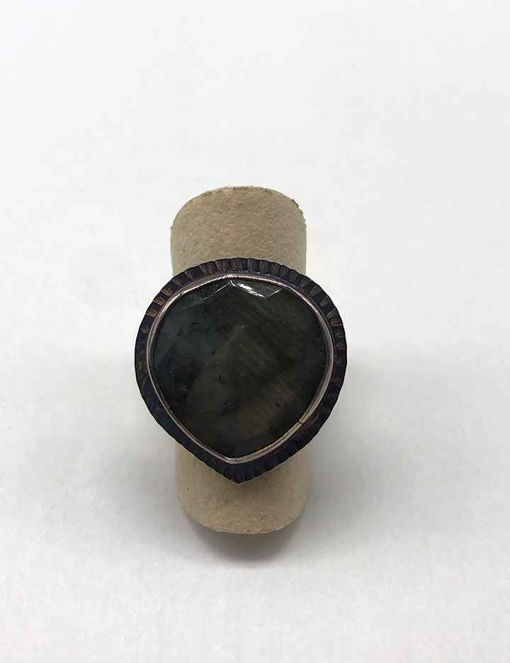 Sterling and Labradorite Ring - Size 7 1/4
