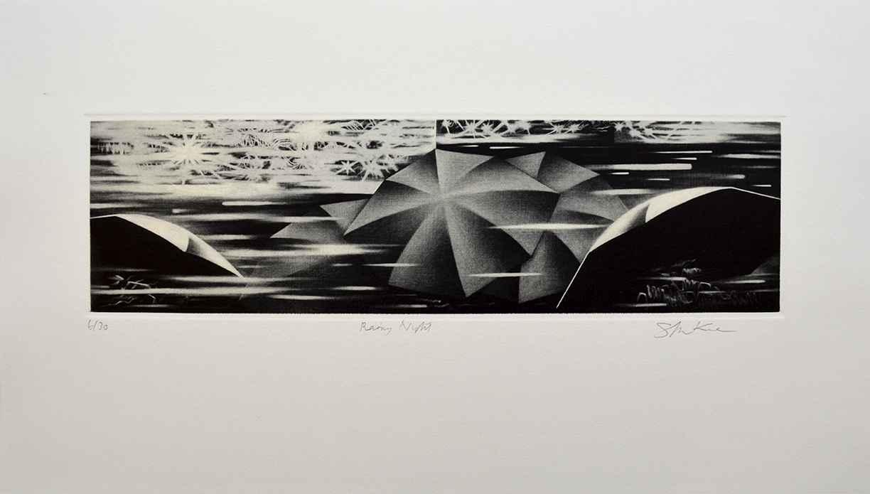 Rainy Night by  Shigeki Kuroda - Masterpiece Online