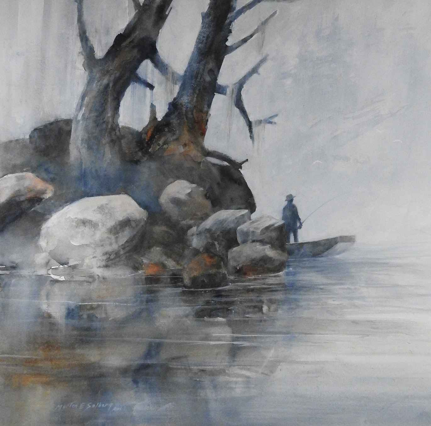 Fishing the Backwaters by  Morten E. Solberg - Masterpiece Online