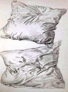 Two Pillows  by  Andren And Olga Dugin