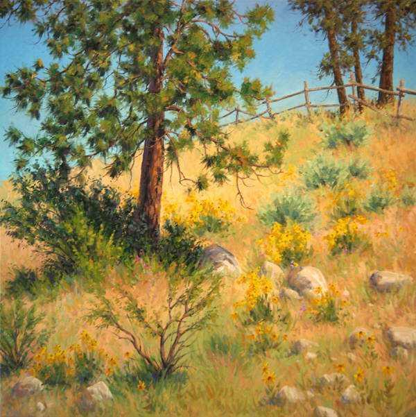 Okanagan Fenceline by  Robert E. Wood - Masterpiece Online