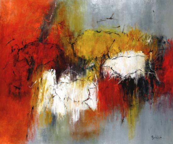The Red Wall 198-6711... by  Marcelle Bonenfant-Dube - Masterpiece Online