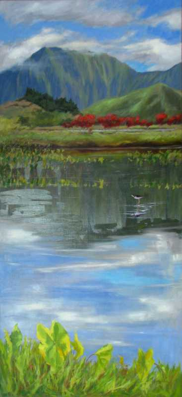 Red Ti and Reflections by  Kristen Olson - Masterpiece Online