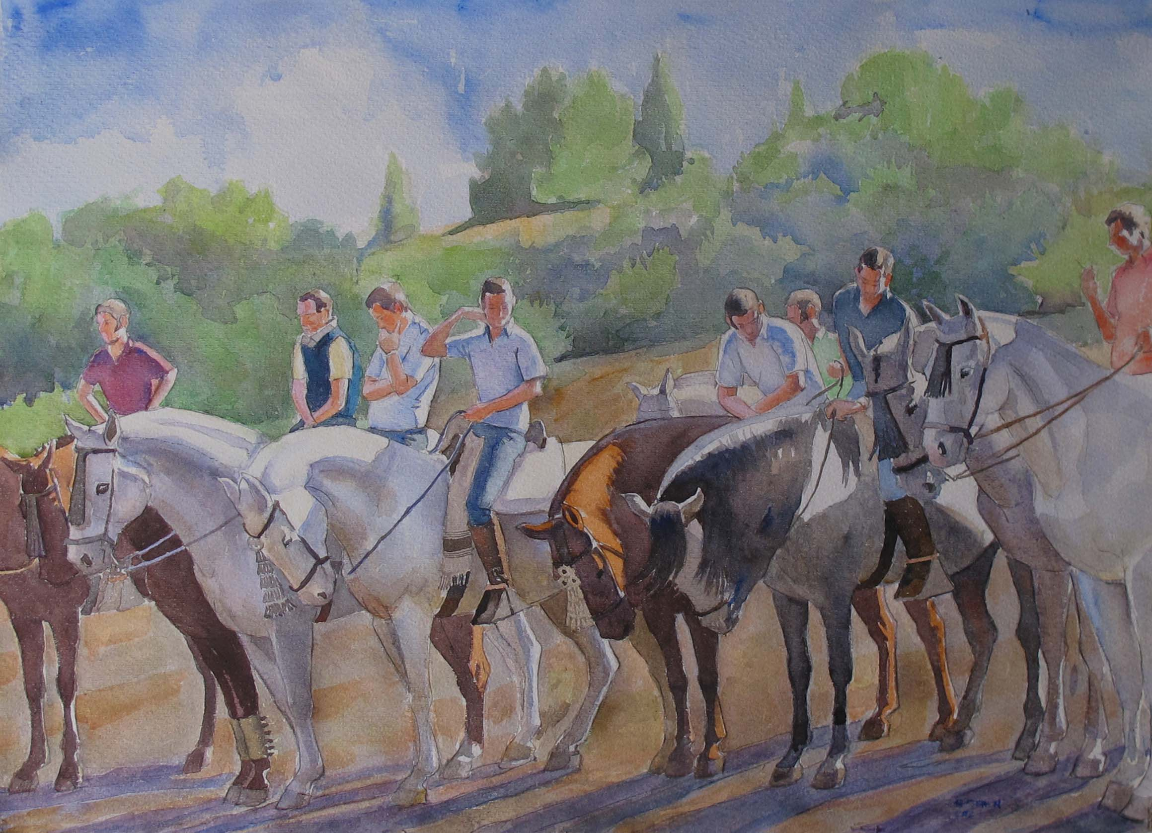 Waiting for the Races... by  Melissa Hefferlin - Masterpiece Online