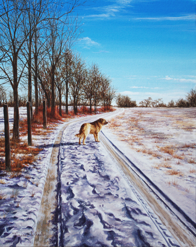Sentinel in the Snow by   Teresa  Wheeler - Masterpiece Online