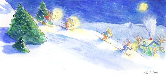Mice Skiing  by  Thacher Hurd