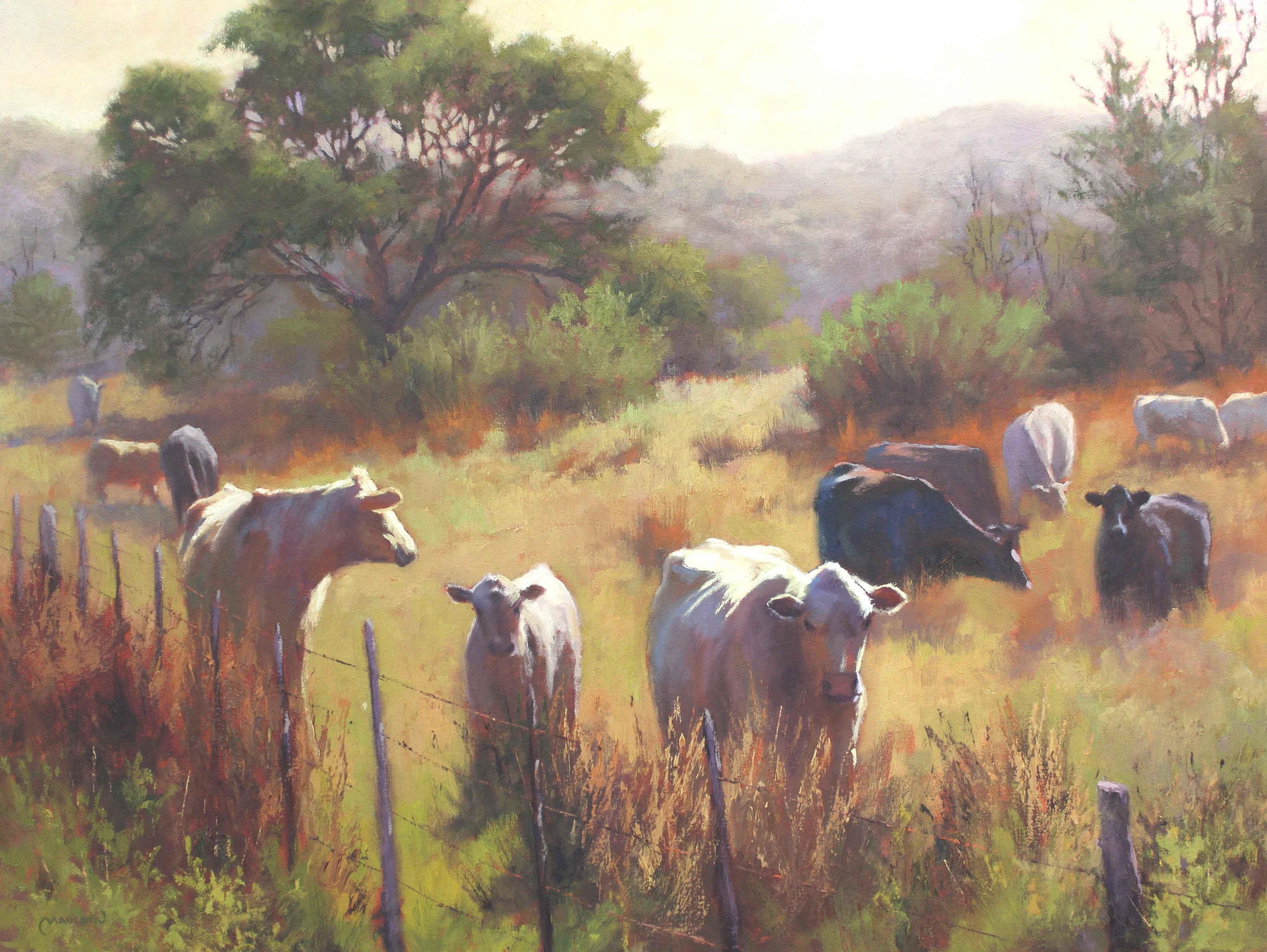 Hillside Herd by  Chuck Mauldin - Masterpiece Online