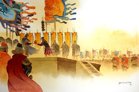 Military Celebration by  Mou-Sien Tseng - Masterpiece Online
